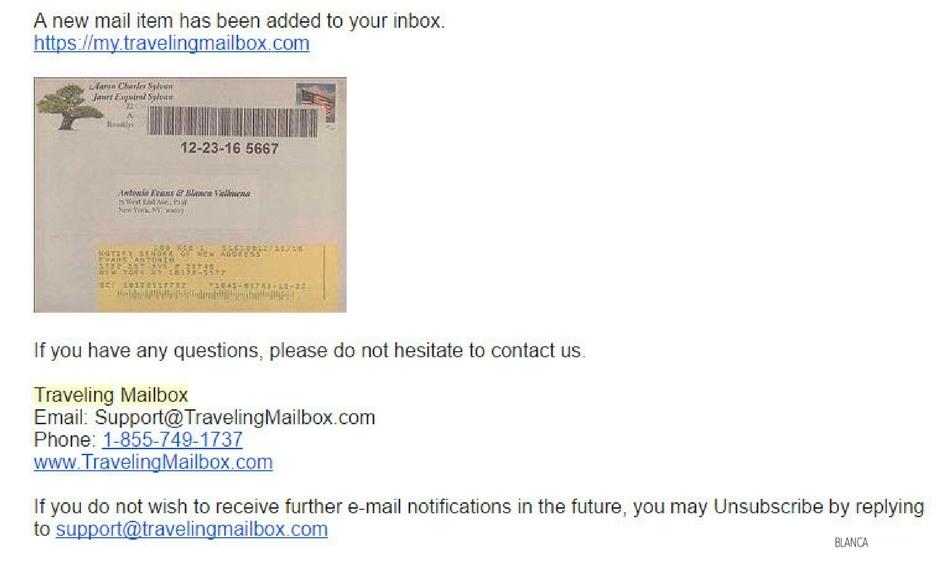 Viaggiando cassetta postale anche depositi assegni