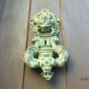 An antique door knocker in Cartagena Colombia
