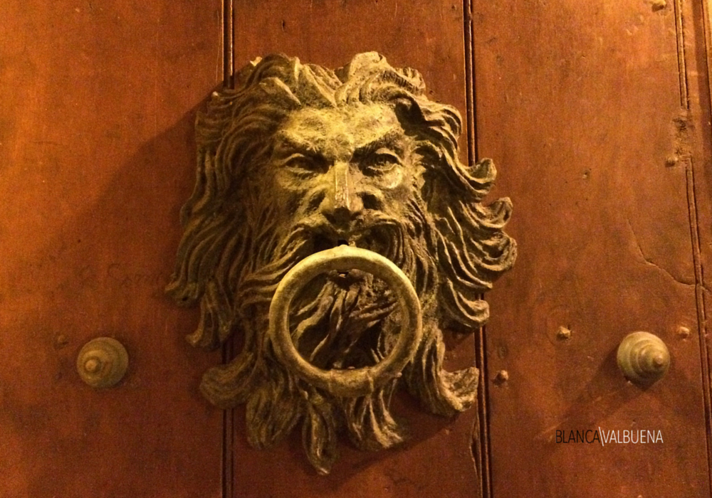 A man shaped door knocker in Cartagena