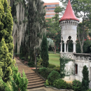 Medellin's Castle has architectural elements that recall chateaux in France