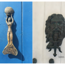 door knocker shaped like a mermaid