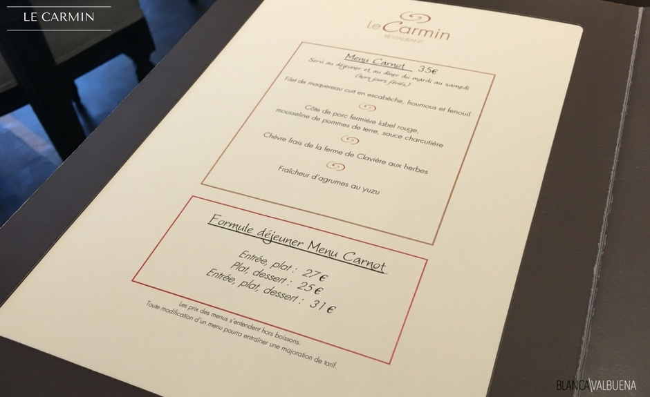 A relatively affordable Michelin Meal is available at Le Carmin in Beaune