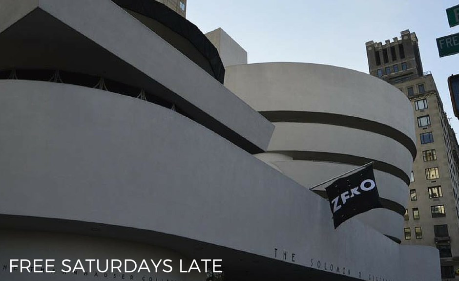 You can go to the Guggenheim for almost free on Satuday nights