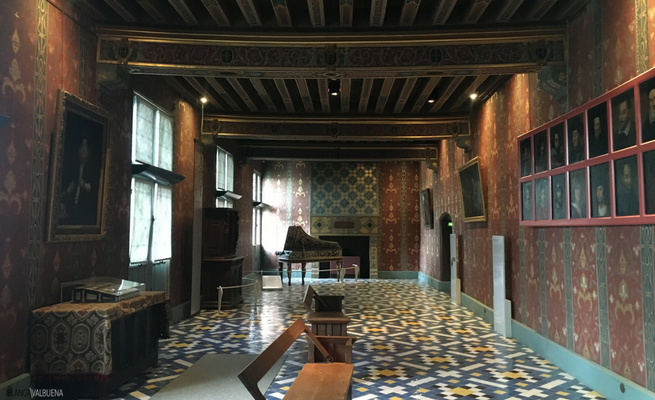 One of the rooms at Blois Castle