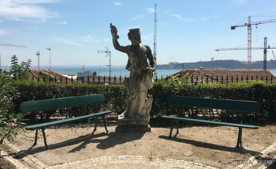 A museum in Lisbon with a garden and a view