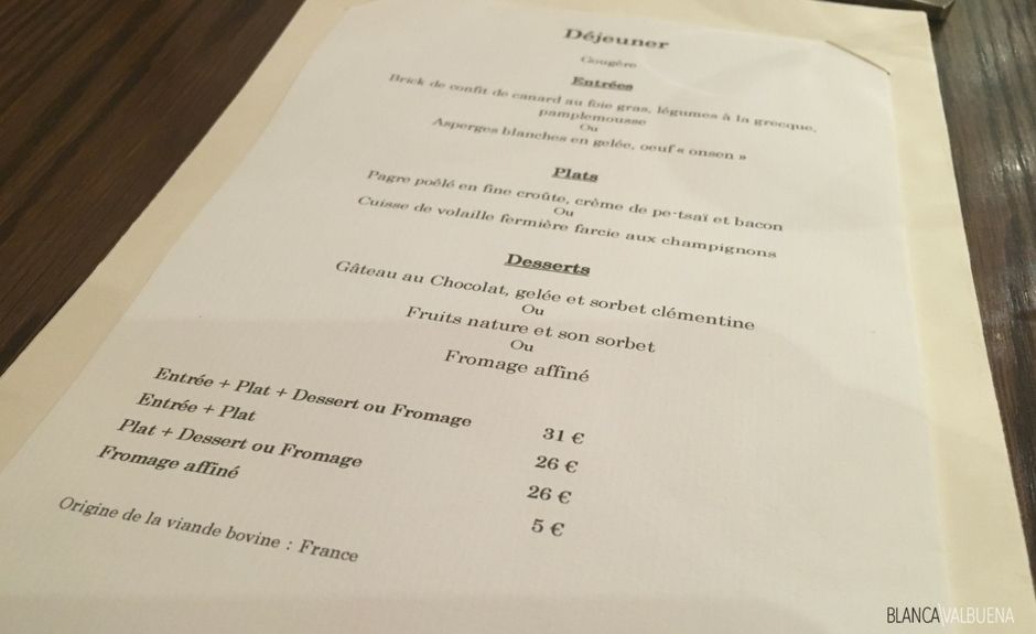 What is a formule at a French restaurant