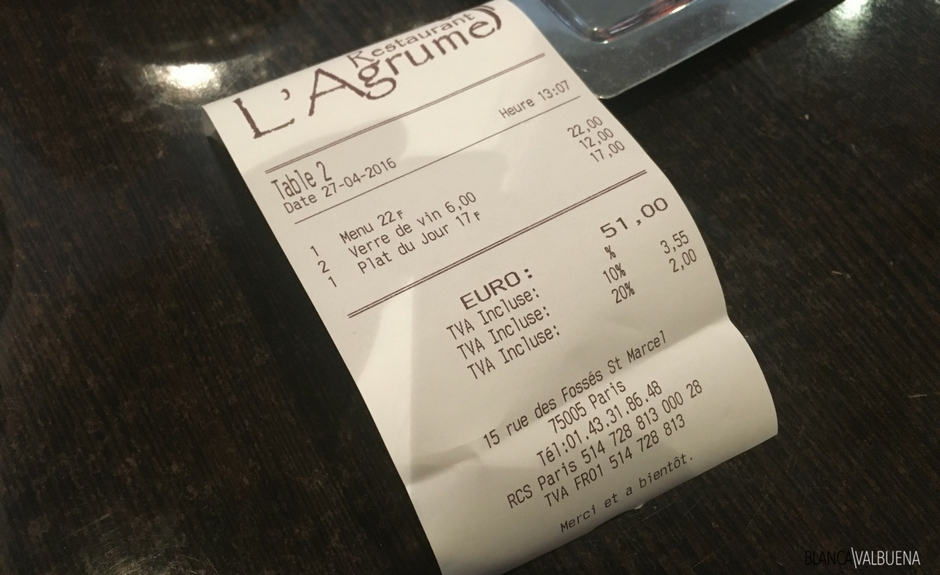 An easy way to ask for the bill in French restaurants