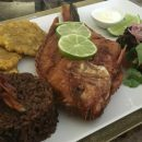 Fried fish is popular in Cartagena Colombia