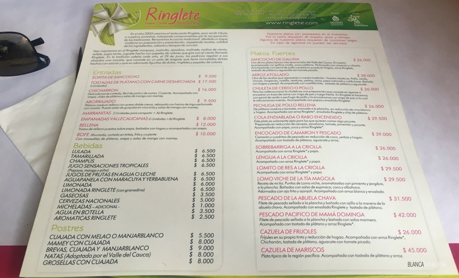 Ringlette in Granada offers good Colombian food