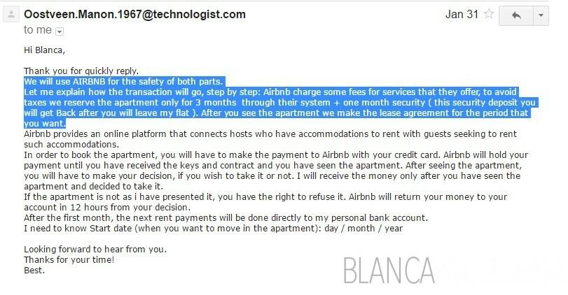 Scammers sur Craigslist vous diront que vous pouvez effectuer des paiements sur Airbnb