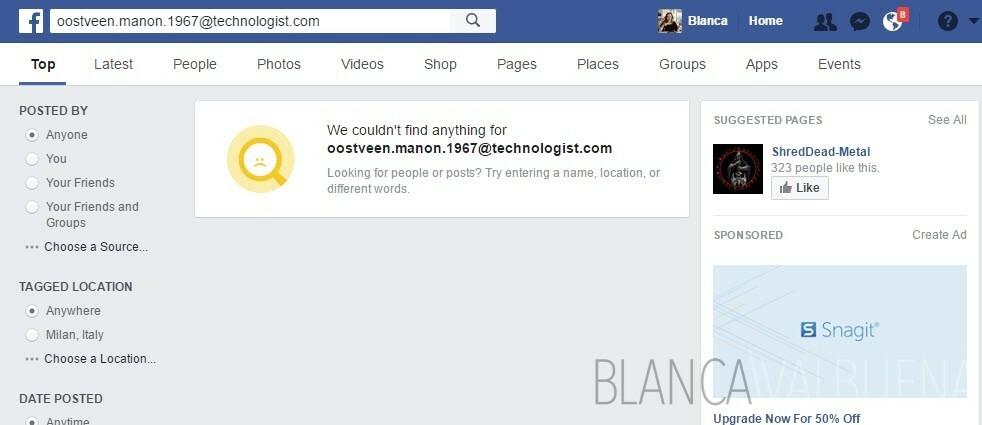 Une simple recherche sur les médias sociaux par nom et votre email peut vous faire économiser beaucoup de chagrin