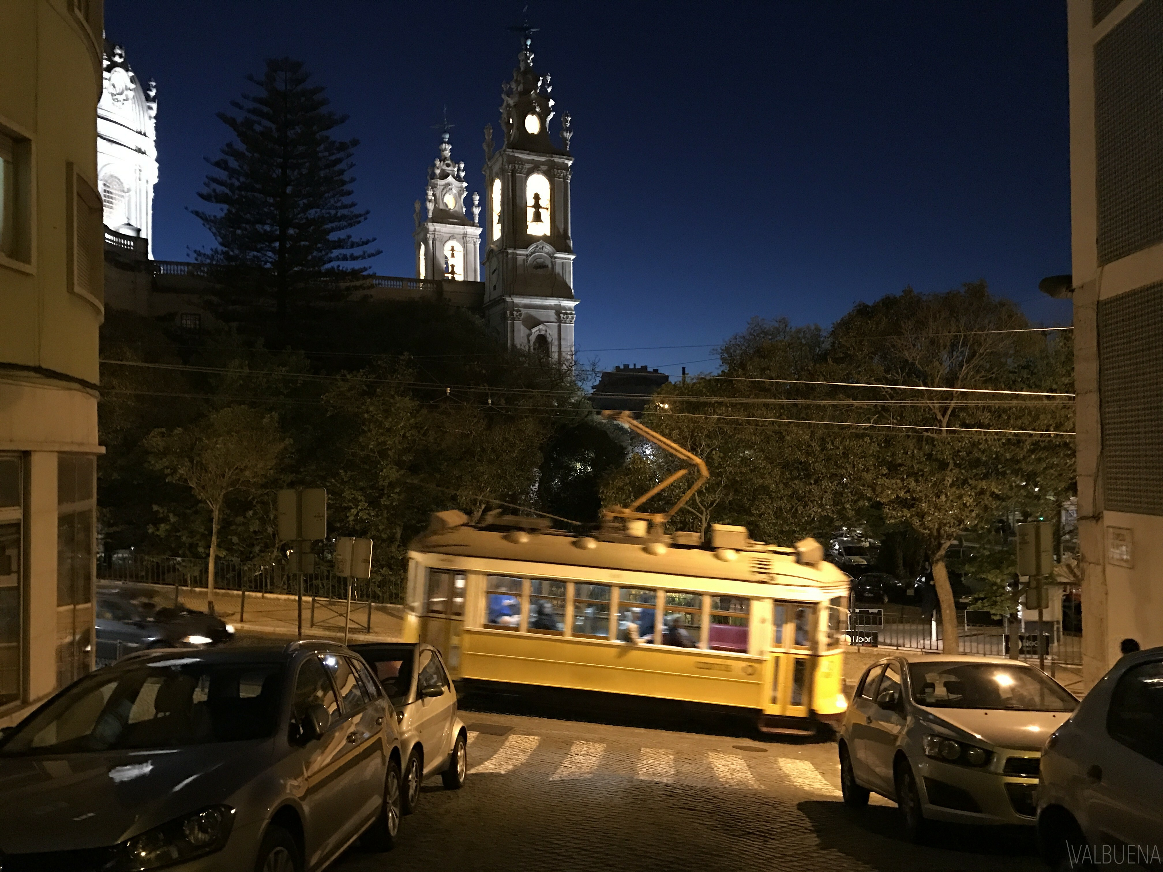 The tram is an easy way to get to Estrela Basilica, Estrela Park and the British Cemetery