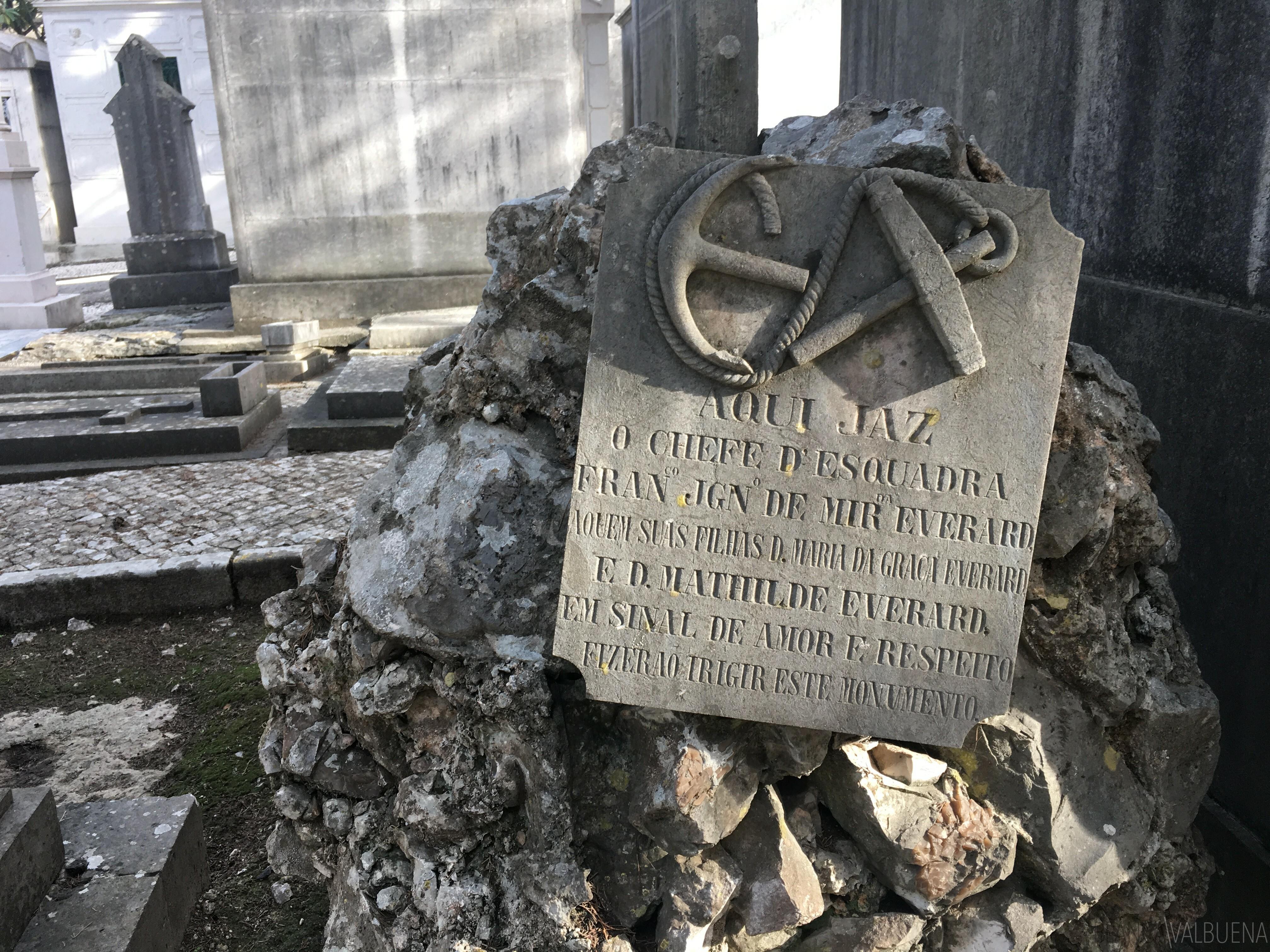 famílias britânicas também em Lisboa cemitério