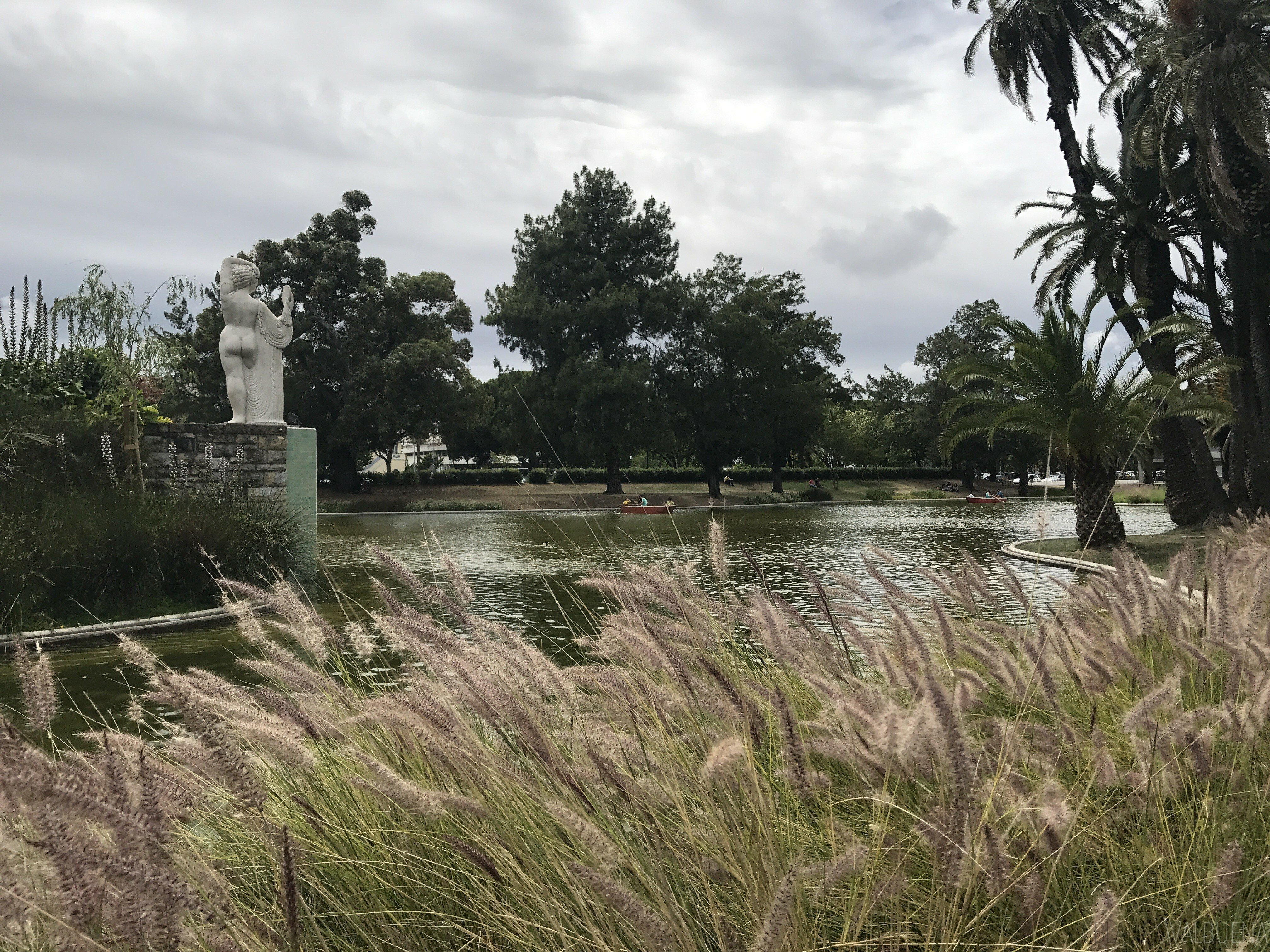 Campo grande park is a great place for families in Lisbon