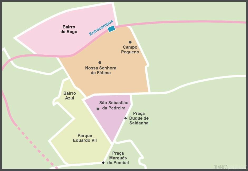 avenidas novas lisbon map