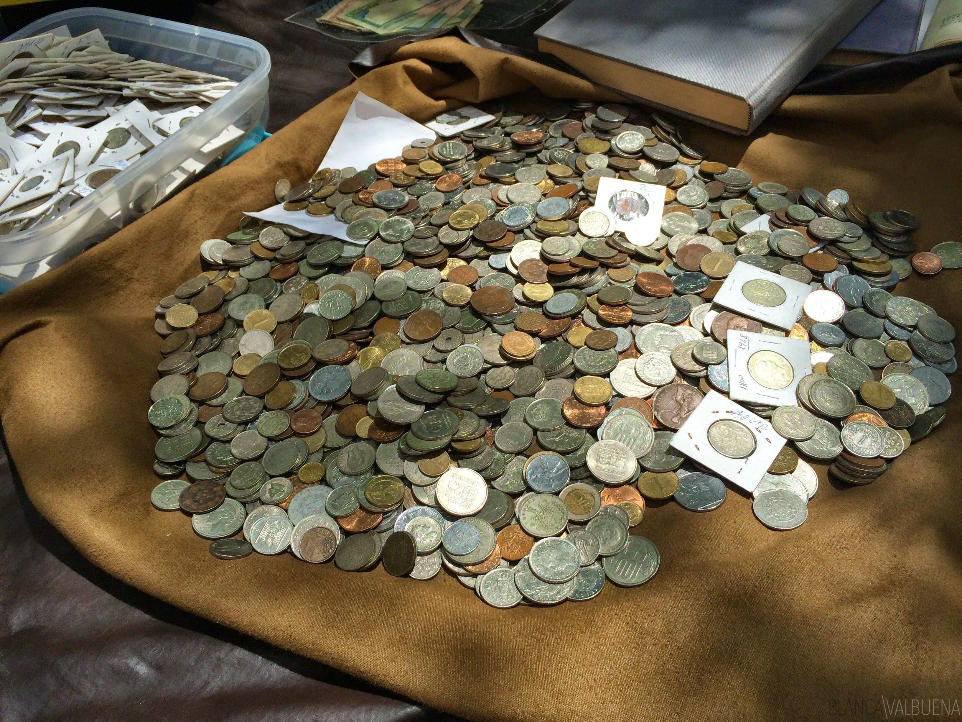 Antique coins in Lisbon