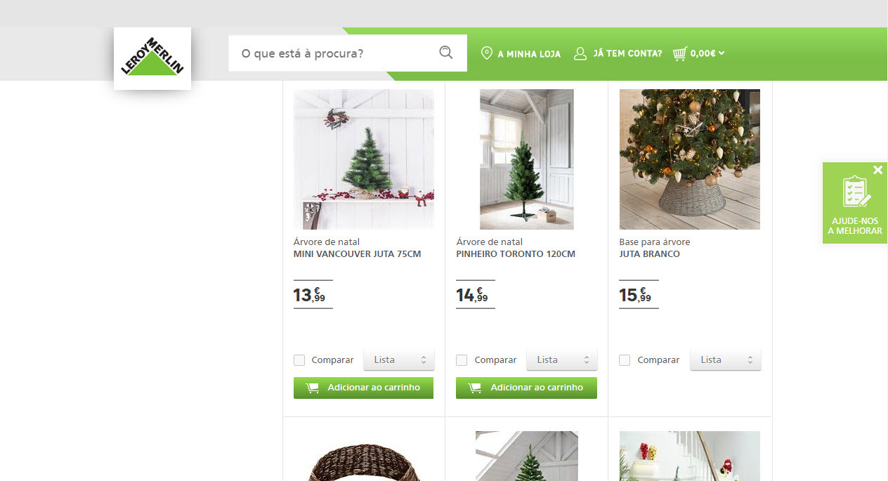 Buy your Christmas tree at Leroy Merlin in Lisbon