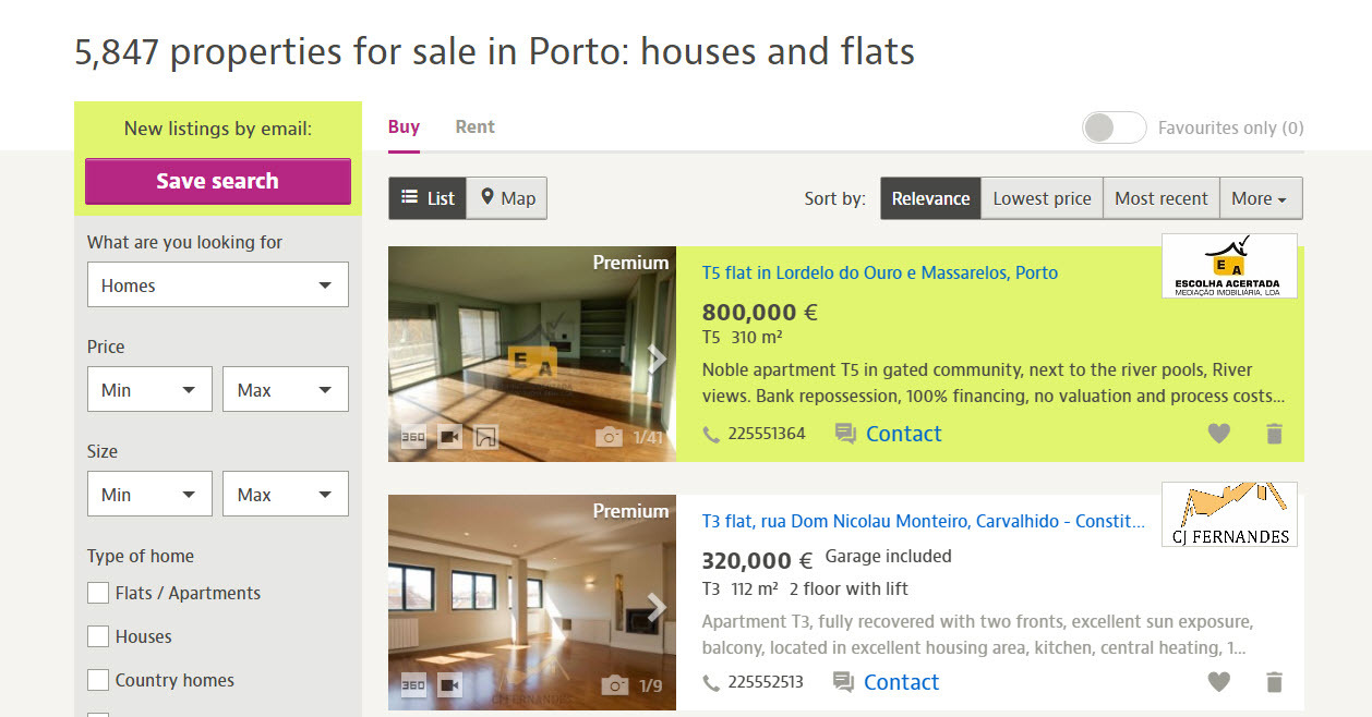 cheap property porto
