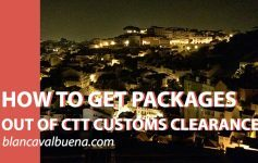 How to get package out of customs lisbon